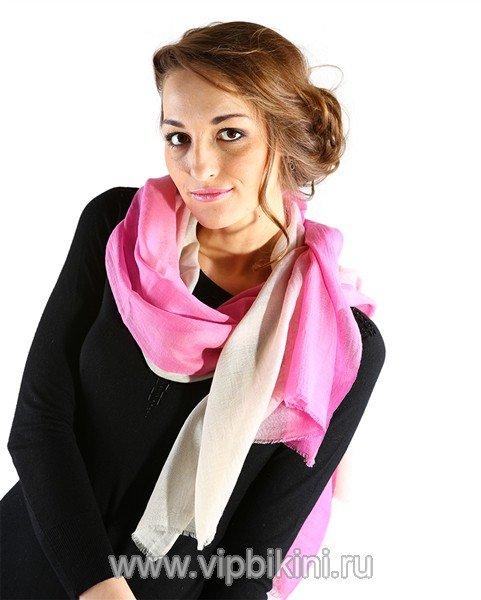 Палантин Venera 513 розово-бежевый