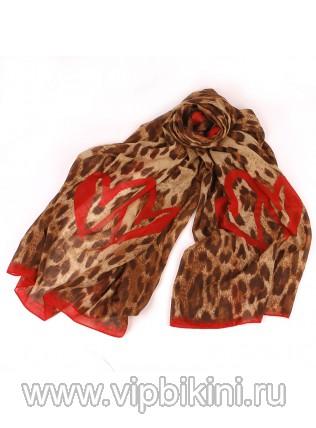 Палантин Venera 901 тигрово-красный