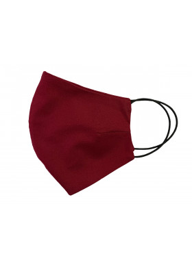 Бордовая хлопковая защитная маска, 5 шт.