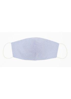 Голубая полосатая защитная маска