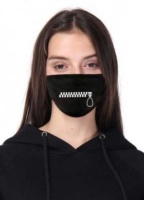 Черная защитная маска с  принтом молнии