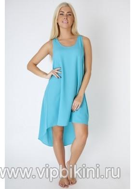 Пляжное платье голубое PR-015