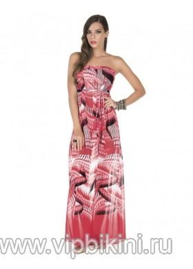 Красное платье A990
