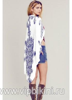 Пляжное белое кимоно