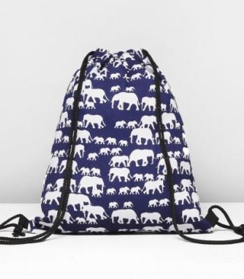 Пляжная сумка для обуви Слоны 1886074