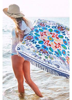 Пляжное покрывало с цветами