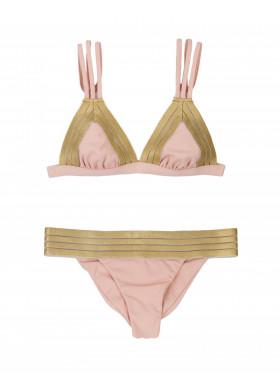 Купальник раздельный розовый с золотом B17123T1/B17123B1