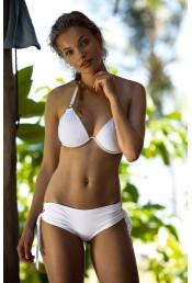 Белый раздельный купальник с завязками