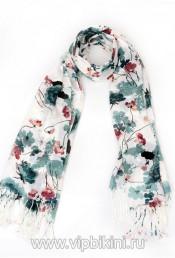Палантин Venera 801 синие цветы