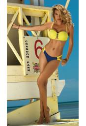 Желто-синий раздельный купальник