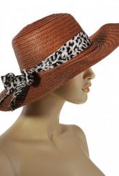 Шляпа кофейного цвета с лентой
