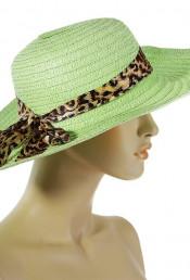 Салатная шляпа с лентой