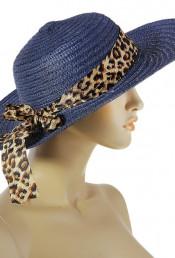 Шляпа с лентой темно-синего цвета