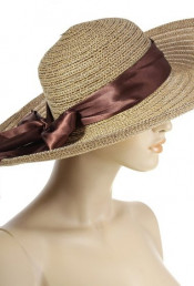 Шляпа светло-коричневого цвета 130661
