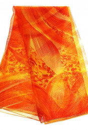 Оранжевое парео с цветком 144008