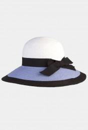 Голубая шляпа ELEGANCE
