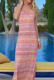 Пляжное платье макси LL179D