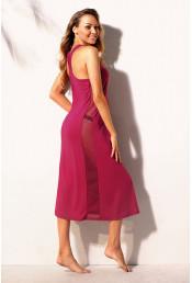 Розовое пляжное платье